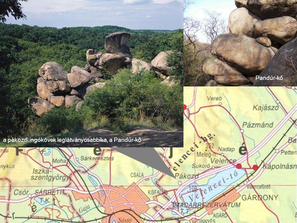 Pandúr-kő a pákozdi ingókövek leglátványosabbika, a Pandúr-kő