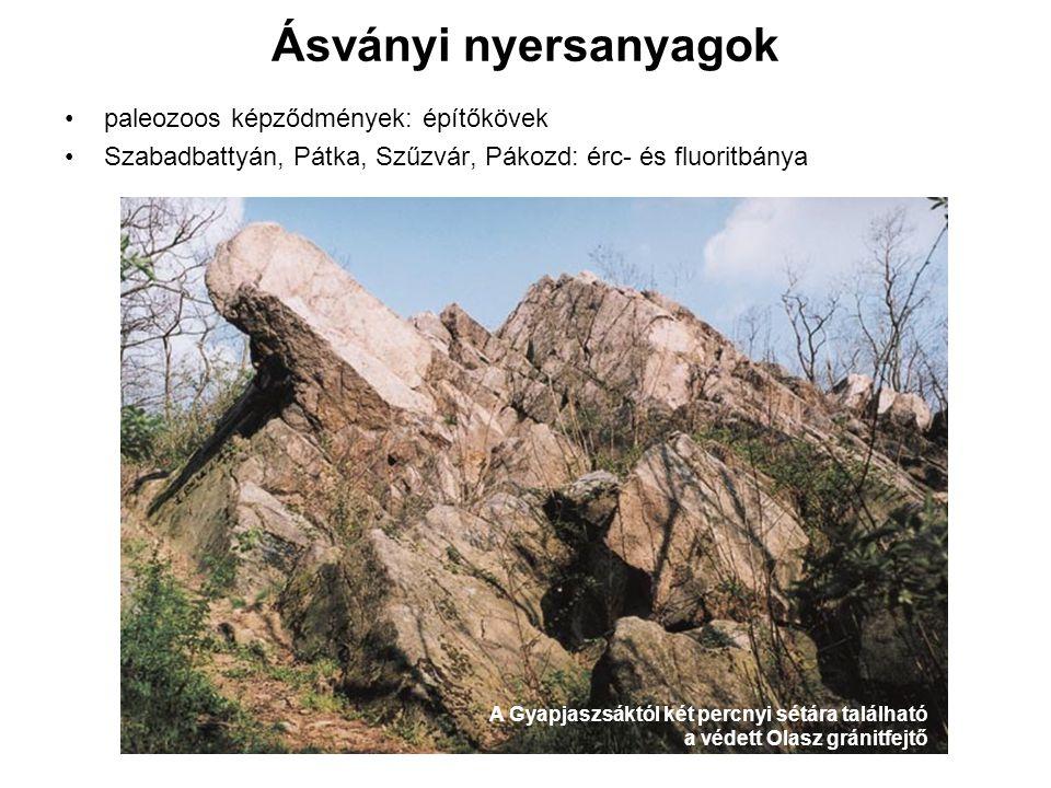 Ásványi nyersanyagok paleozoos képződmények: építőkövek
