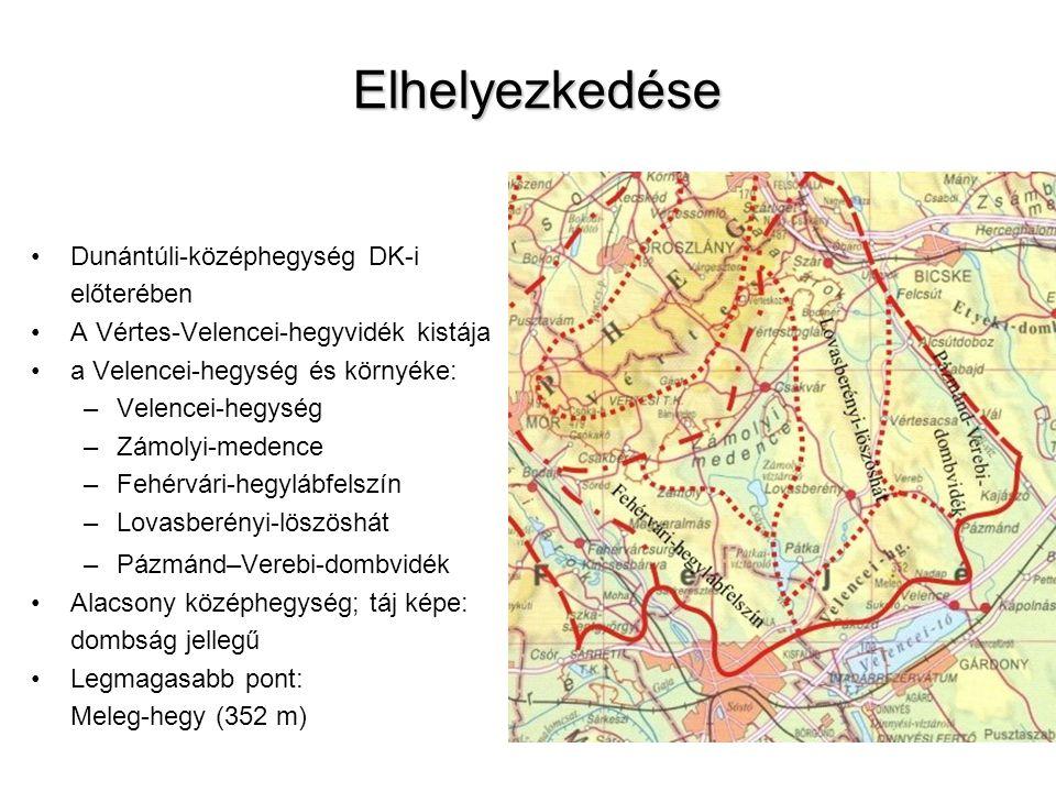 Elhelyezkedése Dunántúli-középhegység DK-i előterében