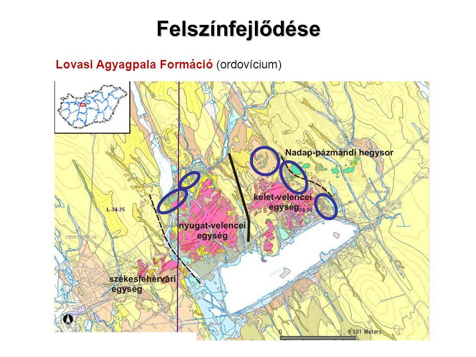 Felszínfejlődése Lovasi Agyagpala Formáció (ordovícium)
