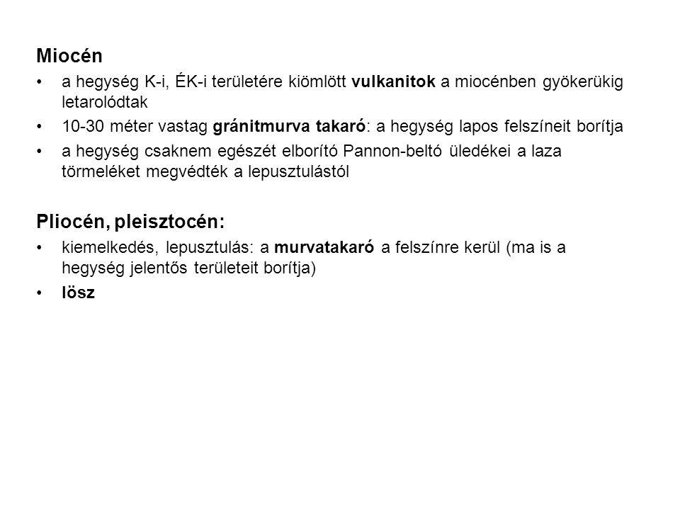 Miocén Pliocén, pleisztocén: