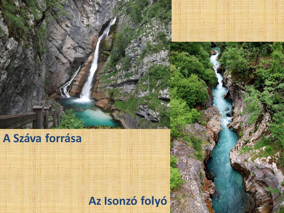 A Száva forrása Az Isonzó folyó