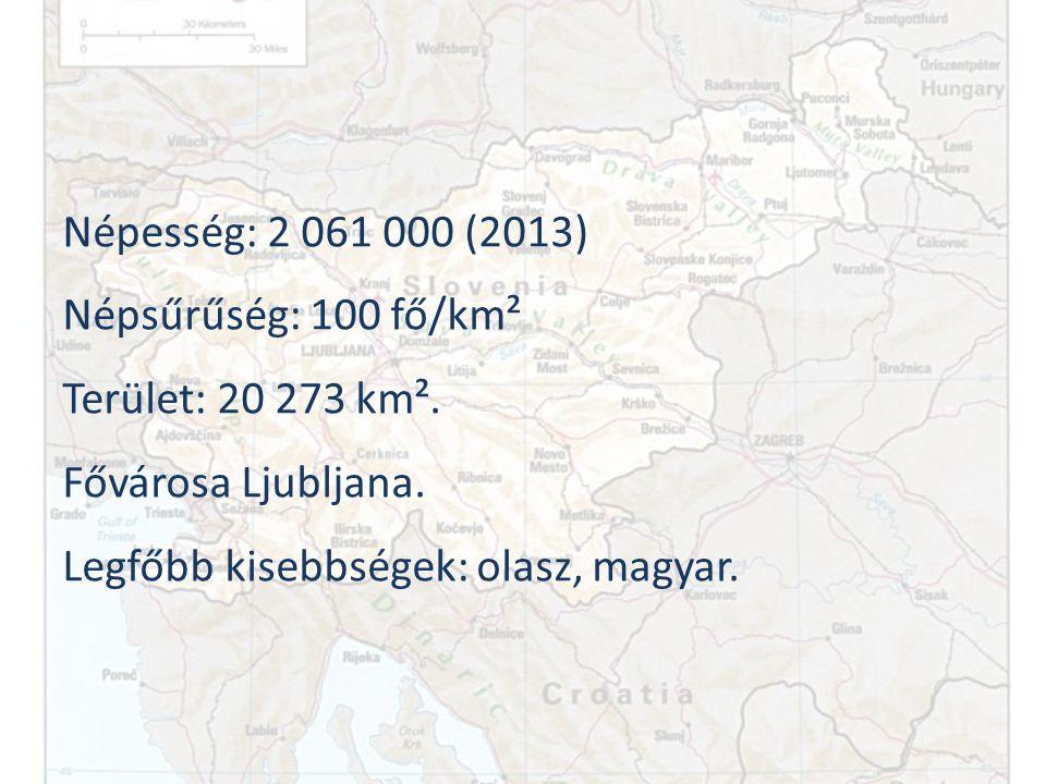 Népesség: 2 061 000 (2013) Népsűrűség: 100 fő/km².