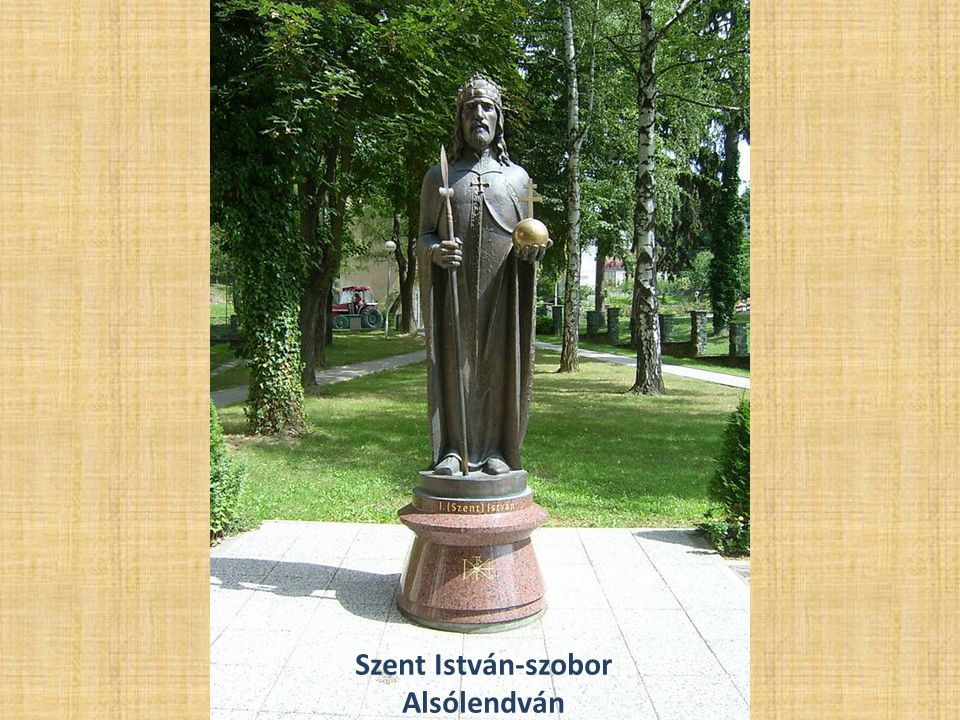 Szent István-szobor Alsólendván