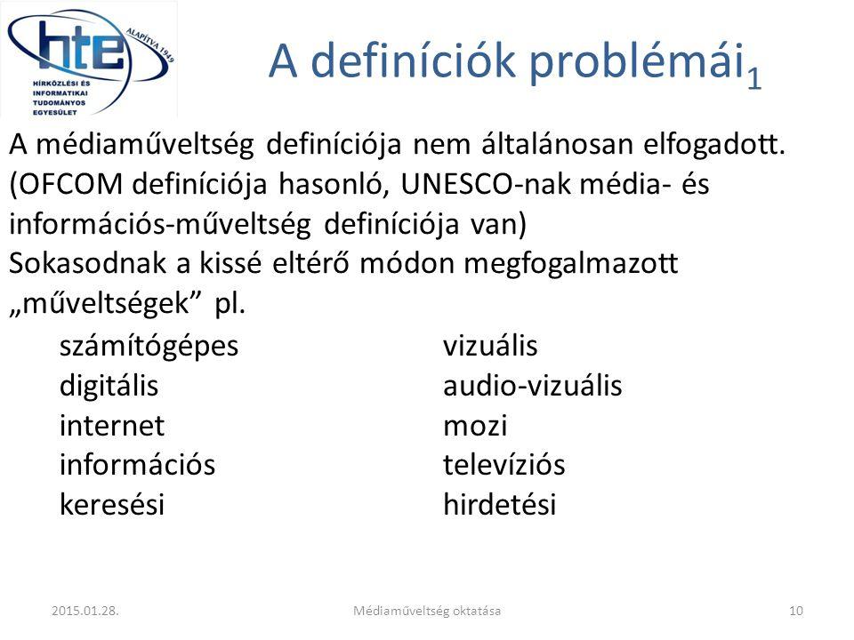 A definíciók problémái1