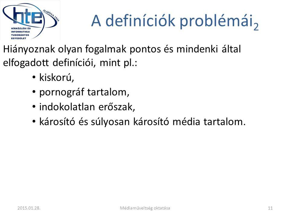A definíciók problémái2