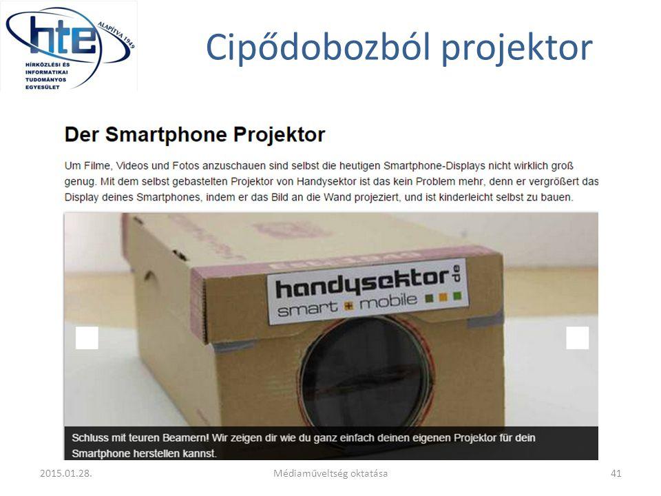 Cipődobozból projektor