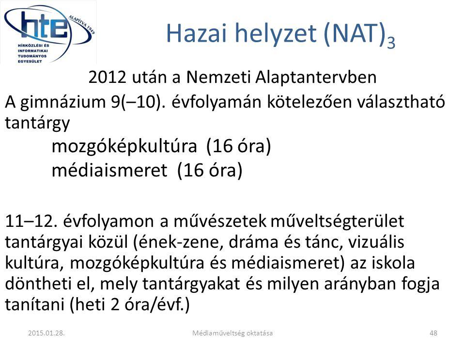 Hazai helyzet (NAT)3 médiaismeret (16 óra)
