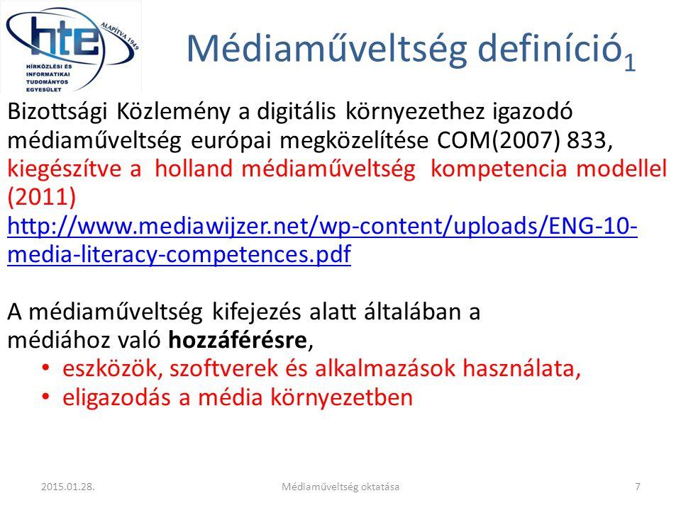 Médiaműveltség definíció1