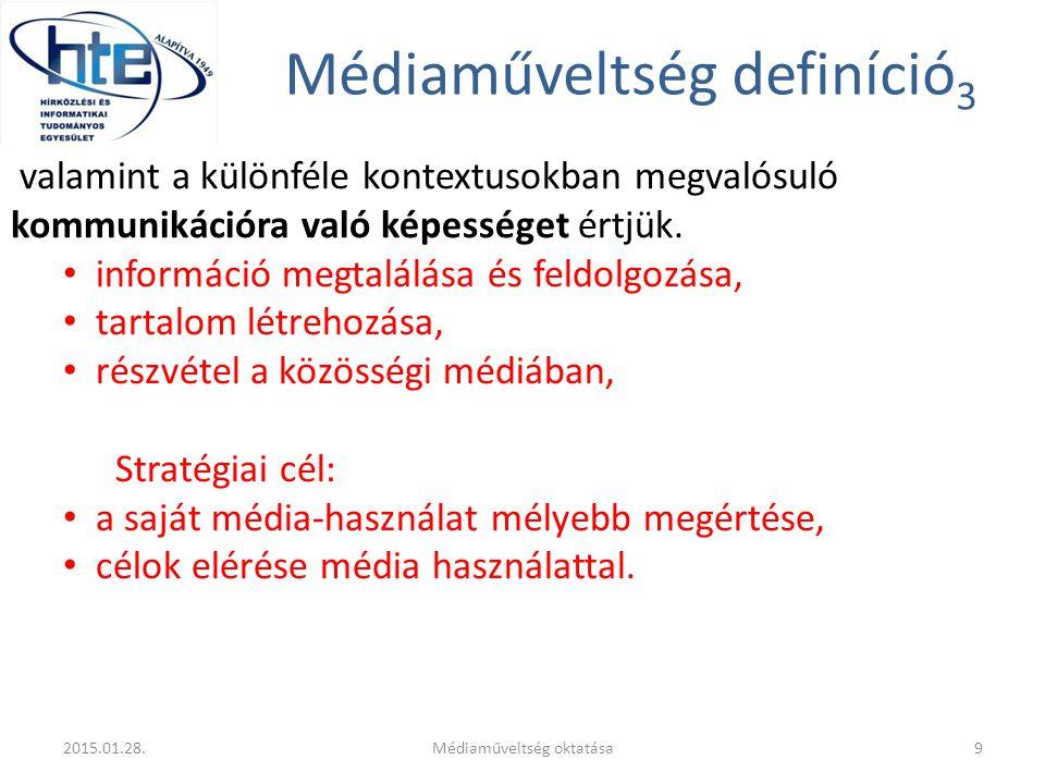 Médiaműveltség definíció3