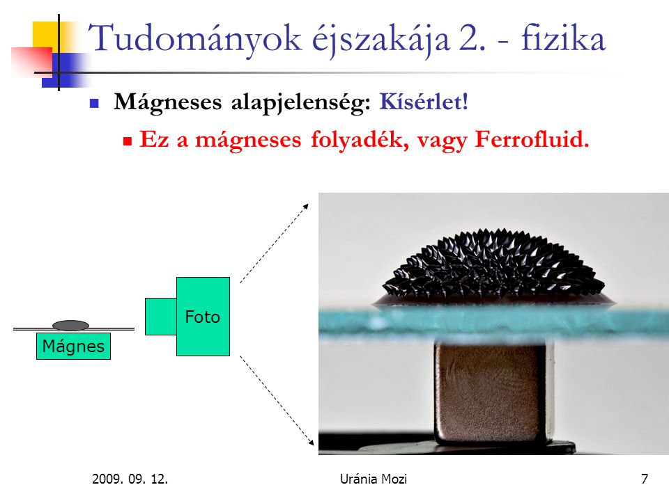 Tudományok éjszakája 2. - fizika