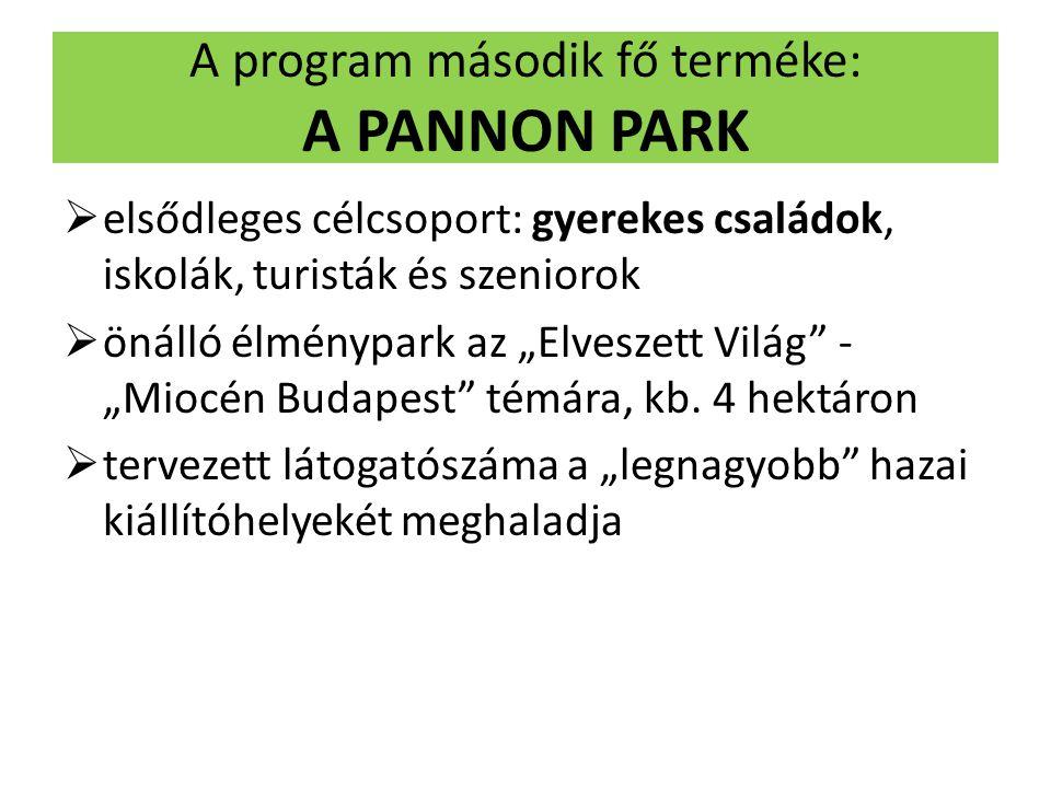 A program második fő terméke: A PANNON PARK