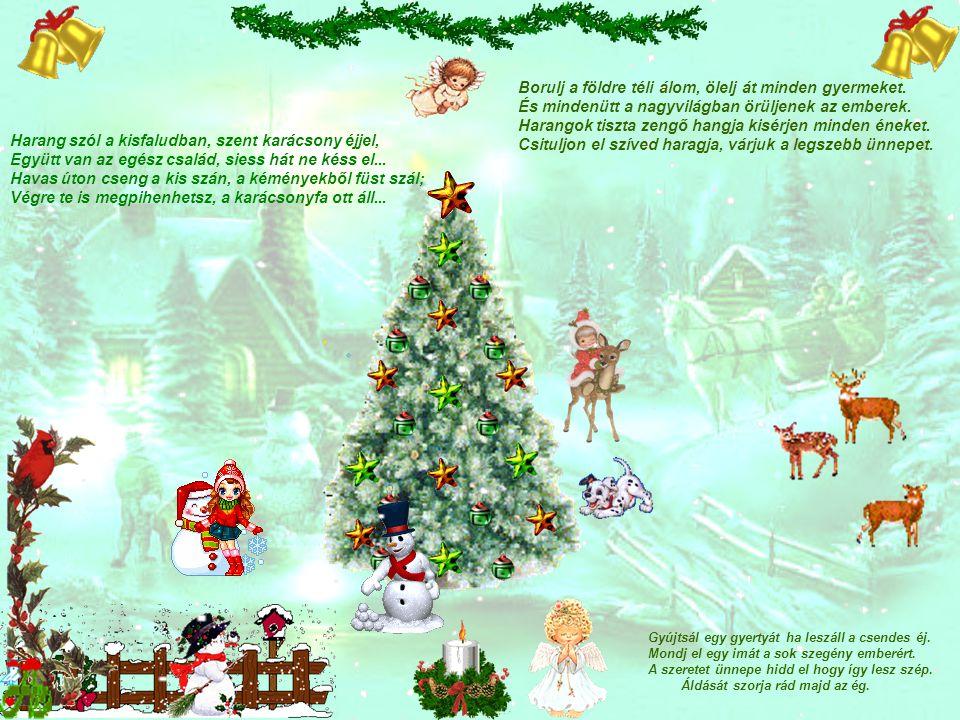 Harang szól a kisfaludban, szent karácsony éjjel,