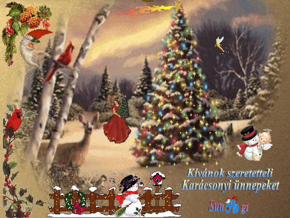 Kívánok szeretetteli Karácsonyi ünnepeket