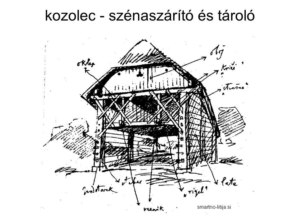 kozolec - szénaszárító és tároló