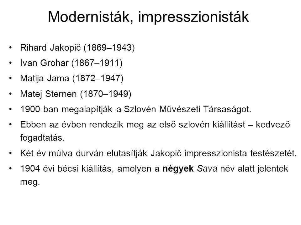 Modernisták, impresszionisták