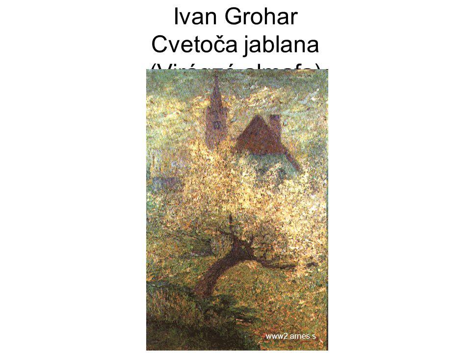 Ivan Grohar Cvetoča jablana (Virágzó almafa)