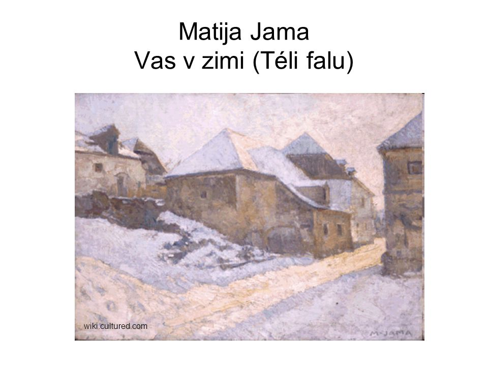 Matija Jama Vas v zimi (Téli falu)