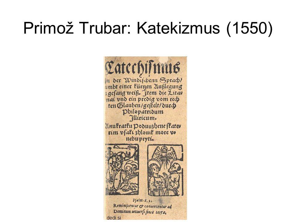 Primož Trubar: Katekizmus (1550)