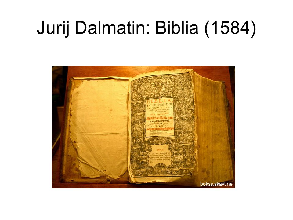 Jurij Dalmatin: Biblia (1584)
