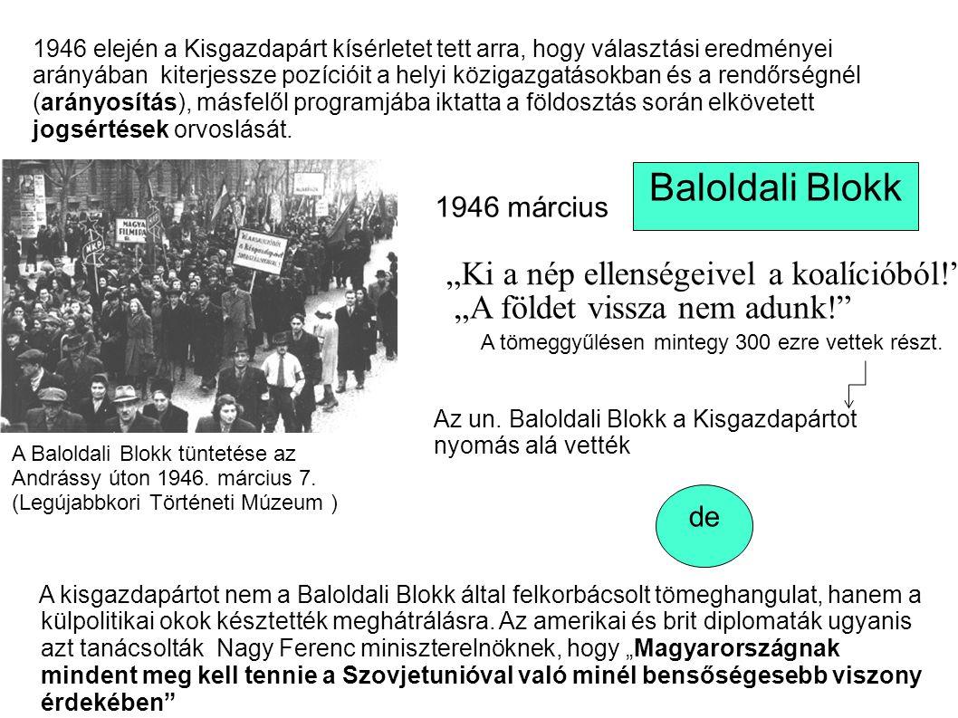 """Baloldali Blokk """"Ki a nép ellenségeivel a koalícióból!"""