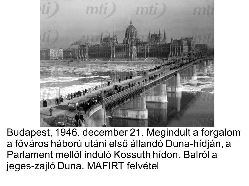 Budapest, 1946. december 21.