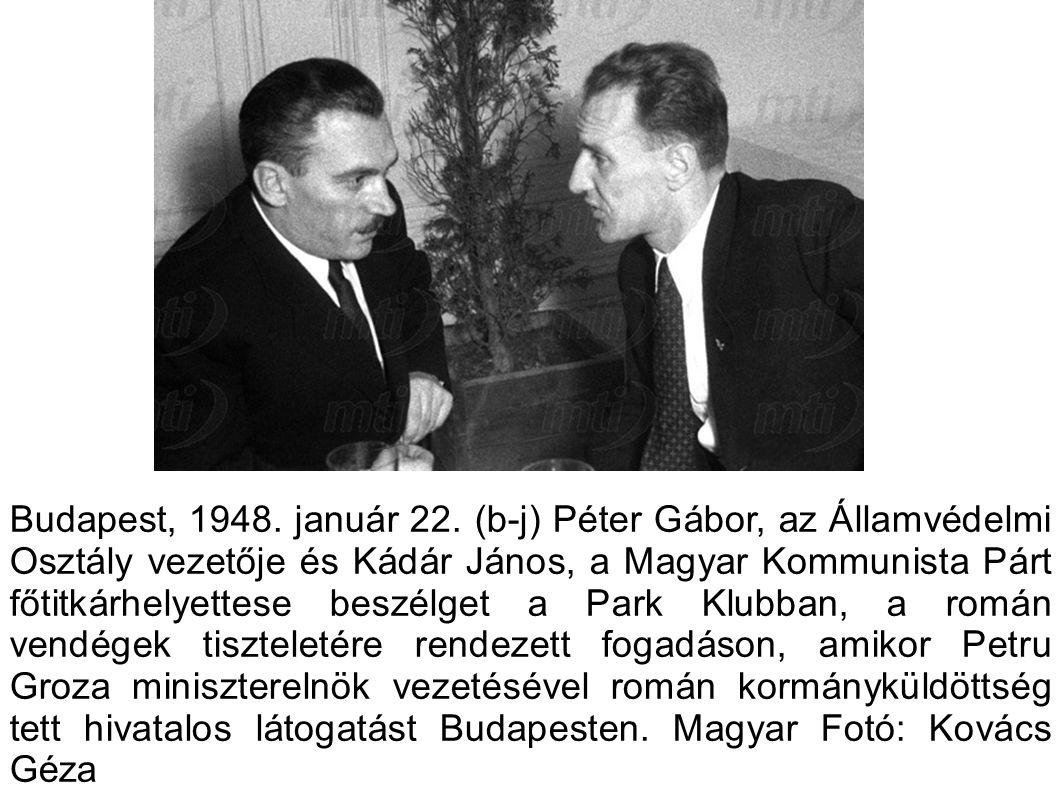 Budapest, 1948. január 22.