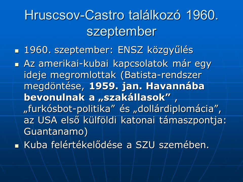 Hruscsov-Castro találkozó 1960. szeptember