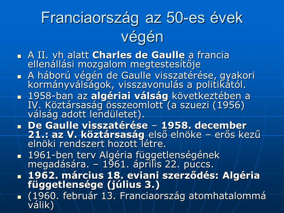 Franciaország az 50-es évek végén