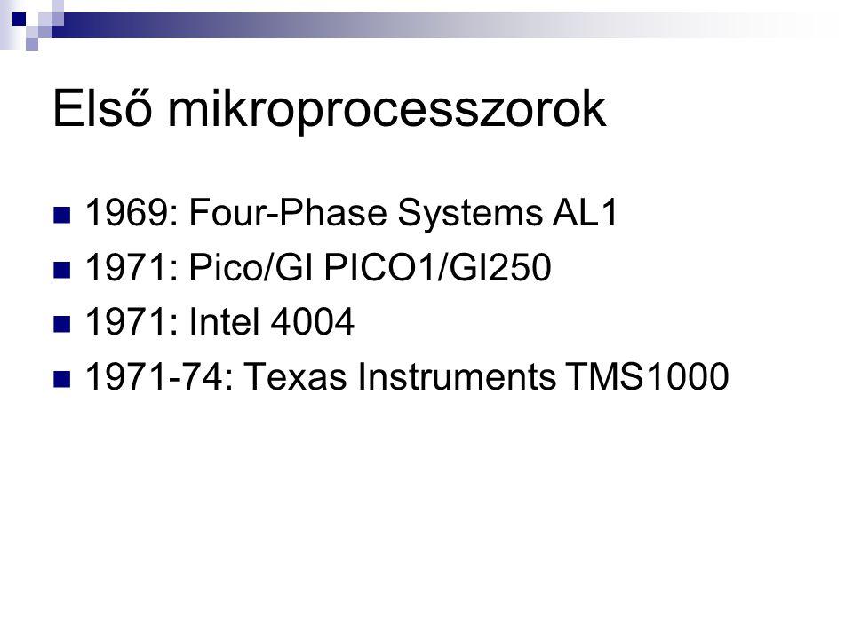 Első mikroprocesszorok