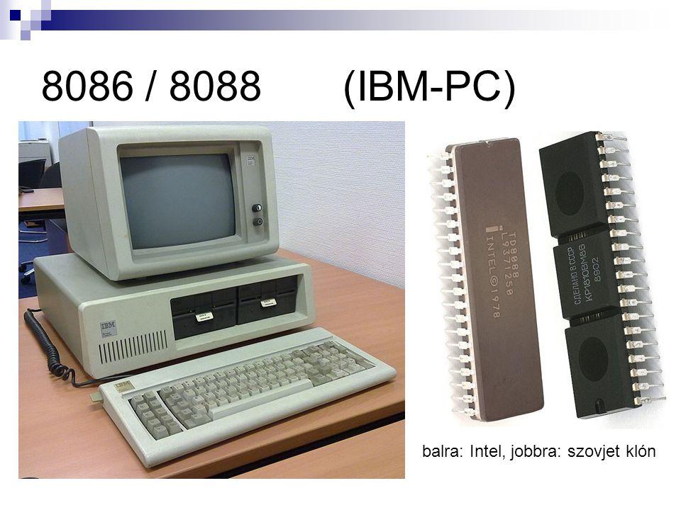 8086 / 8088 (IBM-PC) balra: Intel, jobbra: szovjet klón