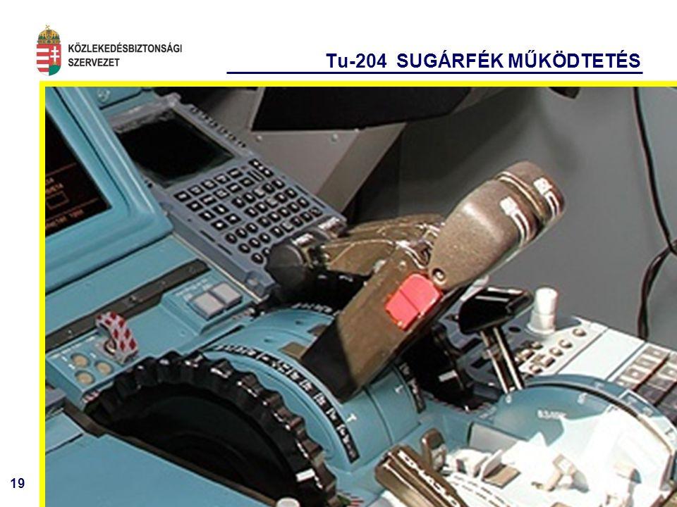 Tu-204 SUGÁRFÉK MŰKÖDTETÉS