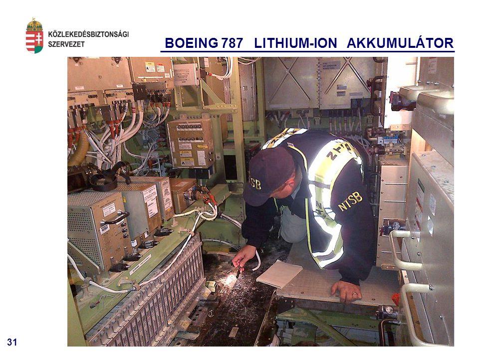 BOEING 787 LITHIUM-ION AKKUMULÁTOR