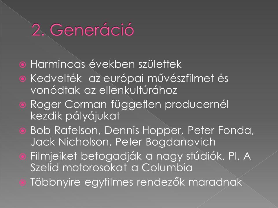 2. Generáció Harmincas években születtek