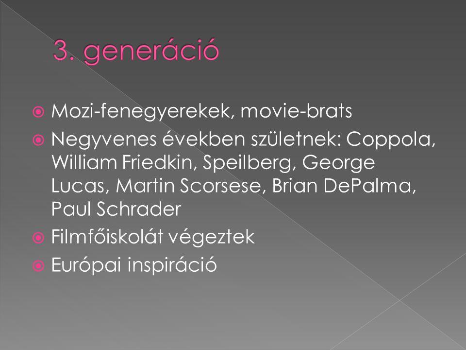 3. generáció Mozi-fenegyerekek, movie-brats