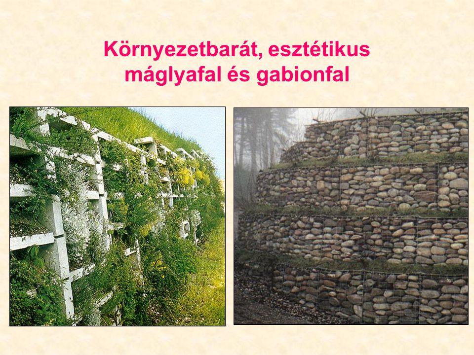 Környezetbarát, esztétikus máglyafal és gabionfal