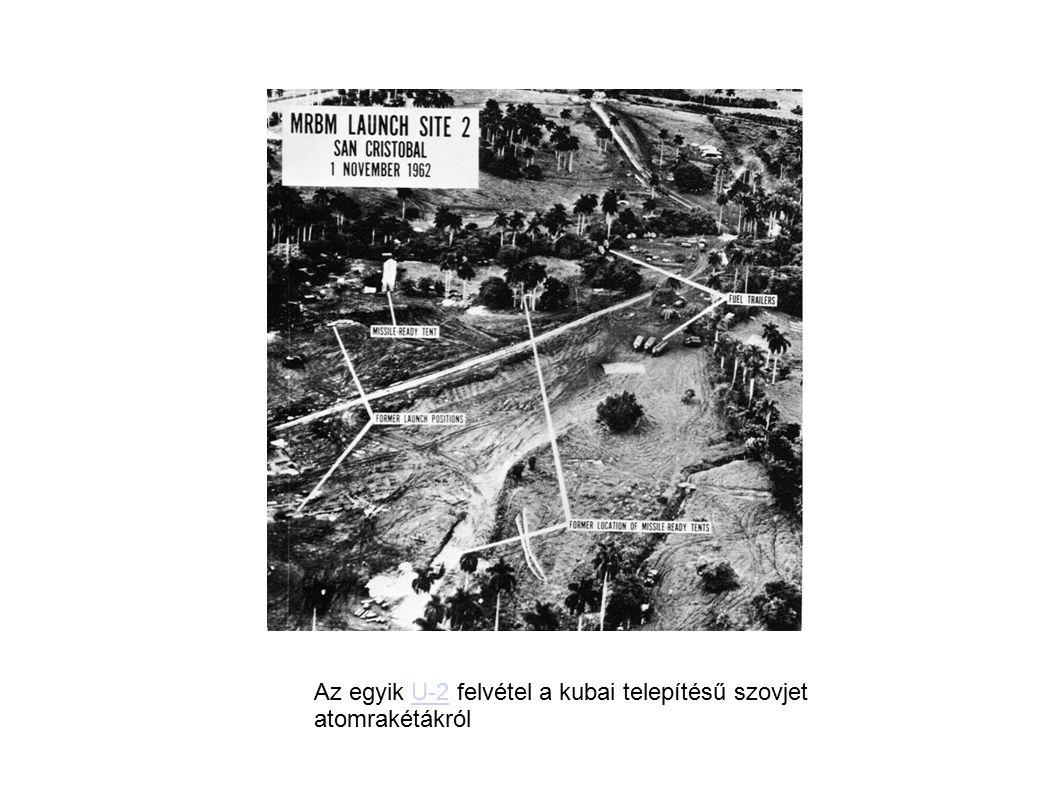 Az egyik U-2 felvétel a kubai telepítésű szovjet atomrakétákról