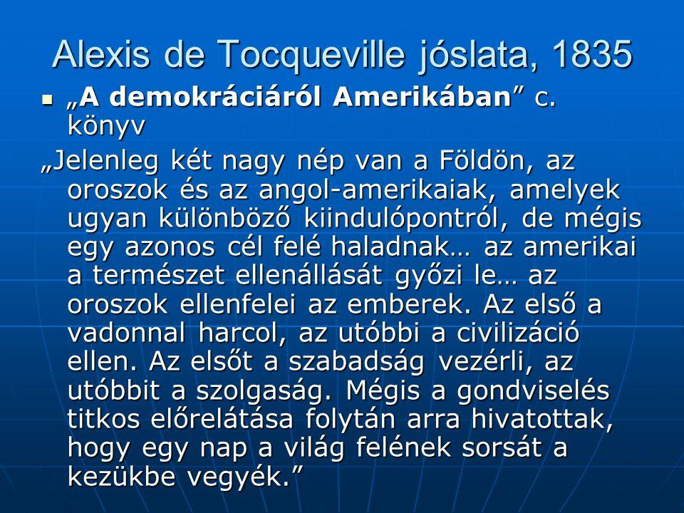 Alexis de Tocqueville jóslata, 1835