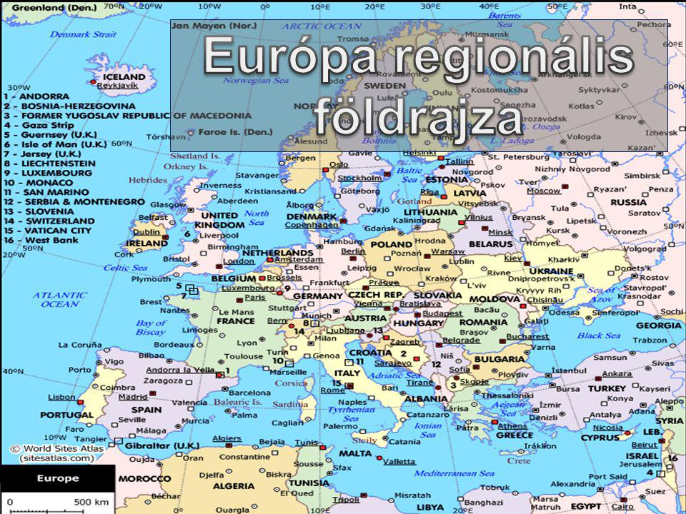 Európa regionális földrajza