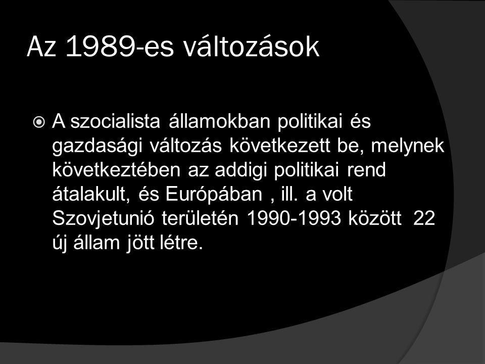 Az 1989-es változások