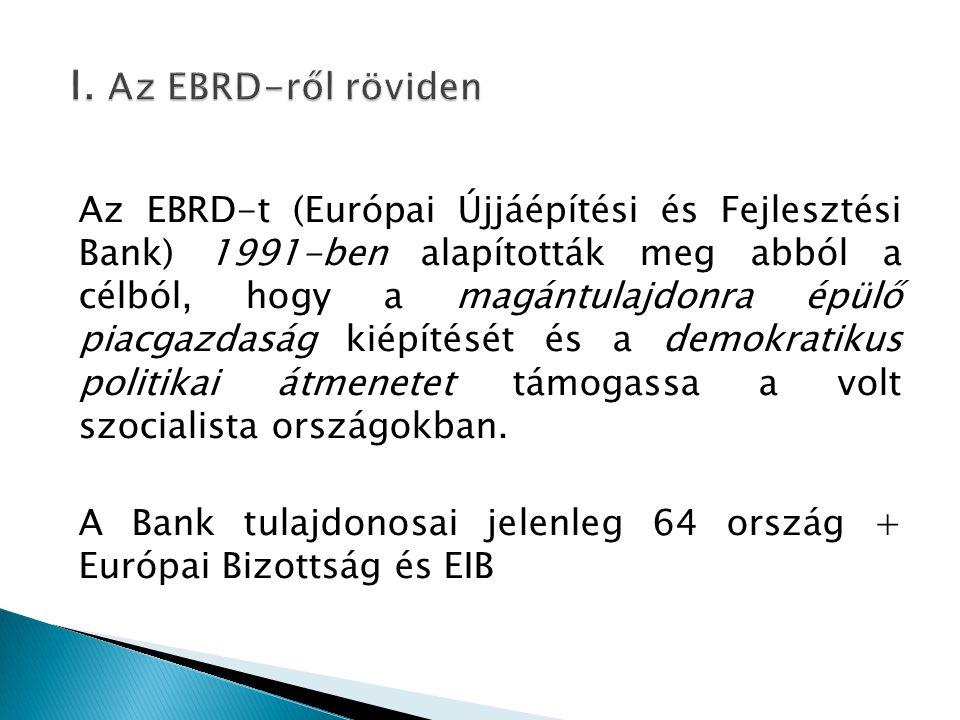 I. Az EBRD-ről röviden