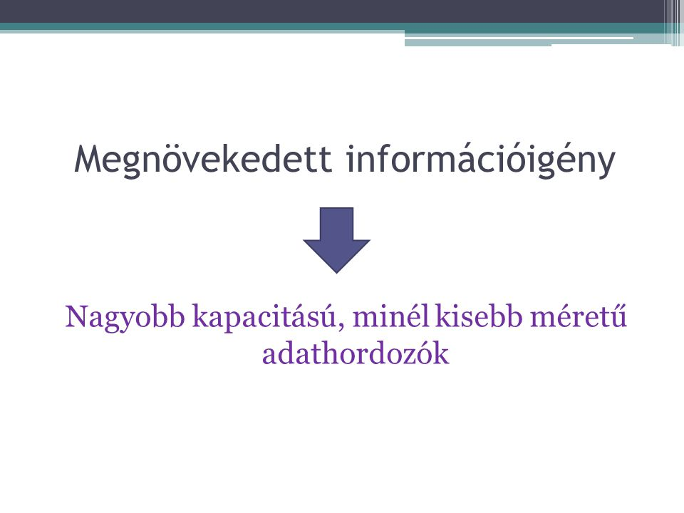 Megnövekedett információigény
