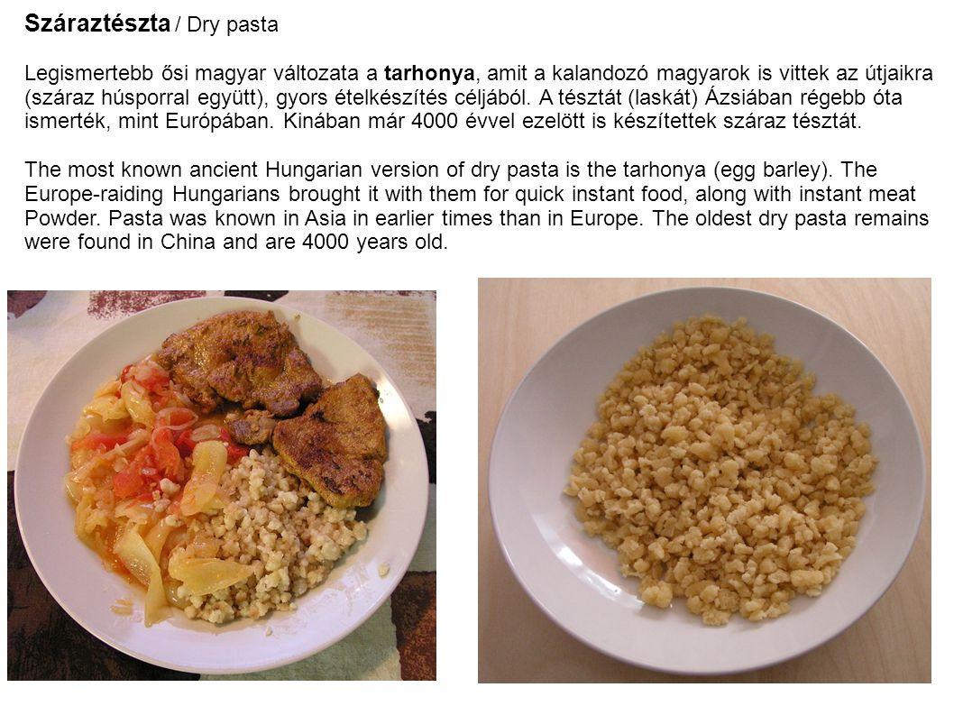 Száraztészta / Dry pasta