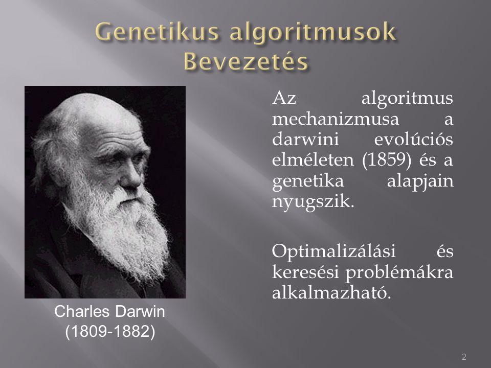 Genetikus algoritmusok Bevezetés