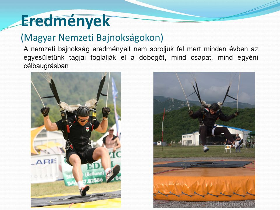 Eredmények (Magyar Nemzeti Bajnokságokon)