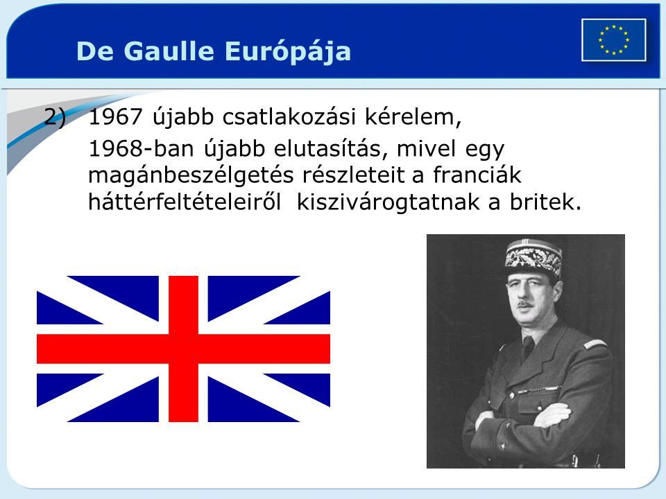 De Gaulle Európája 1967 újabb csatlakozási kérelem,