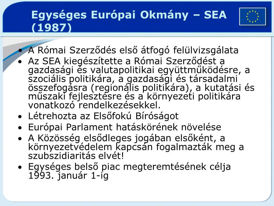 Egységes Európai Okmány – SEA (1987)