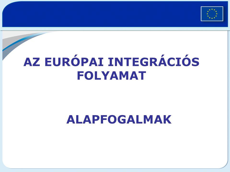 Az európai integrációs folyamat