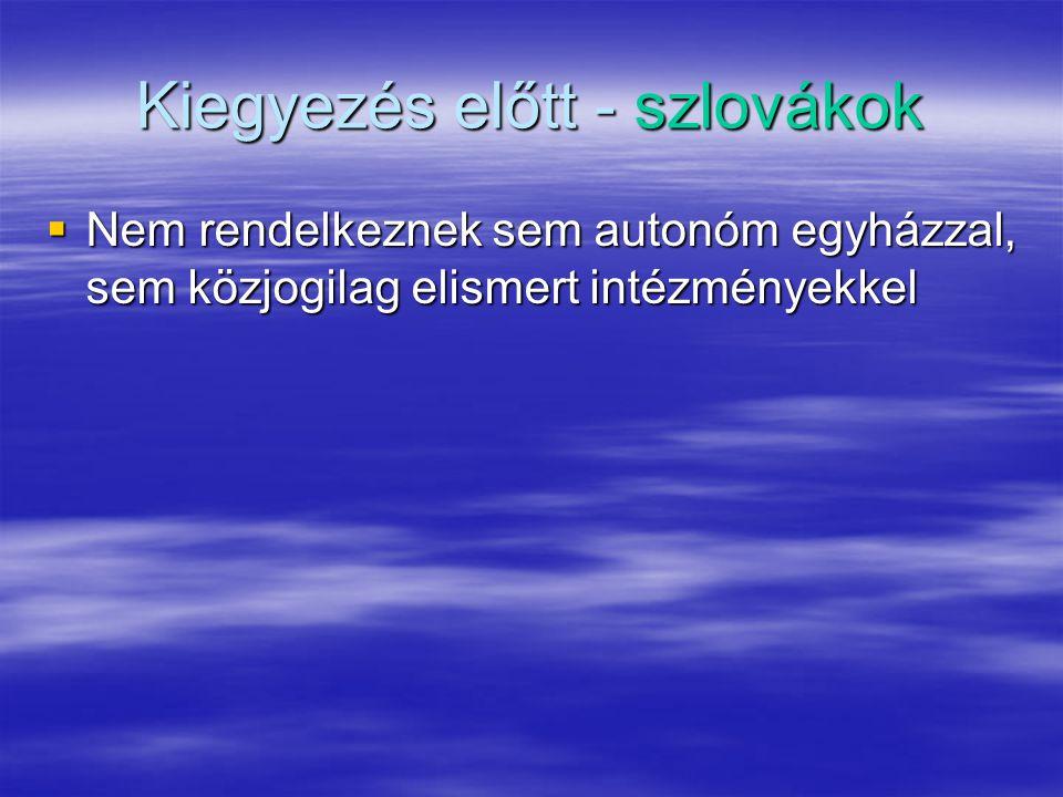 Kiegyezés előtt - szlovákok