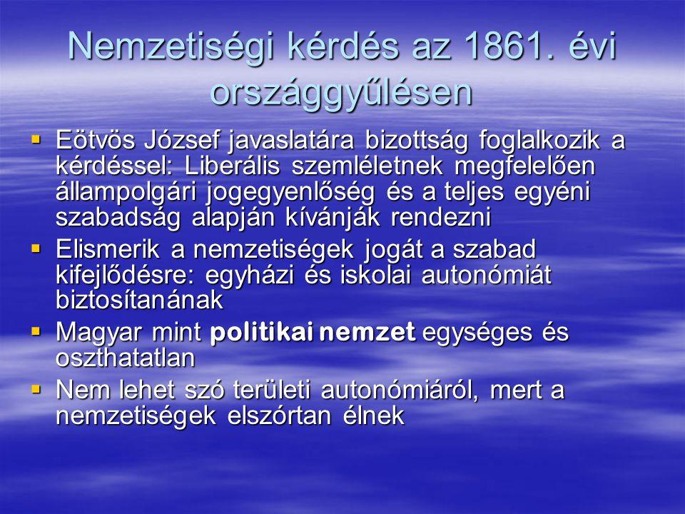 Nemzetiségi kérdés az 1861. évi országgyűlésen